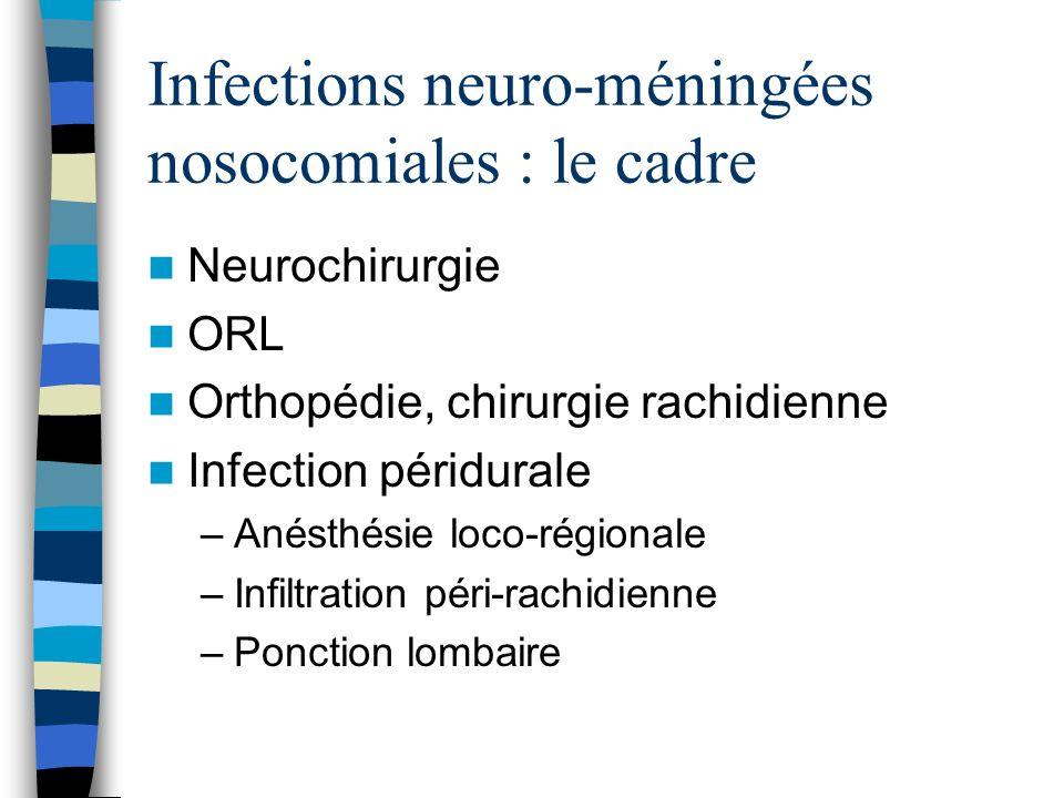 Le contexte Infections du site opératoire Infections sur matériel Localisation secondaire !!!!