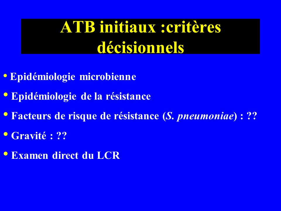 SP meningitis in adults: penicillin susceptibilities of 1071 isolates* Years * France 100%