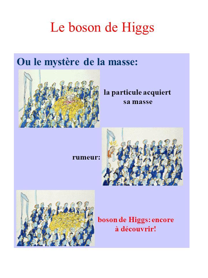 Le boson de Higgs Ou le mystère de la masse: rumeur: boson de Higgs: encore à découvrir! la particule acquiert sa masse