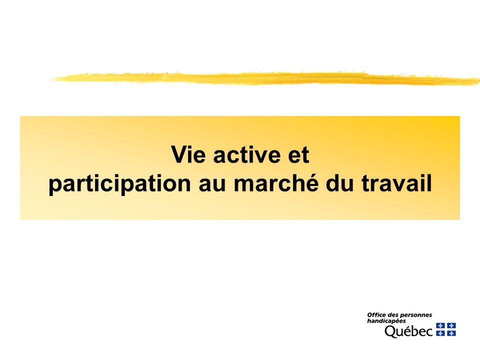 Vie active et participation au marché du travail