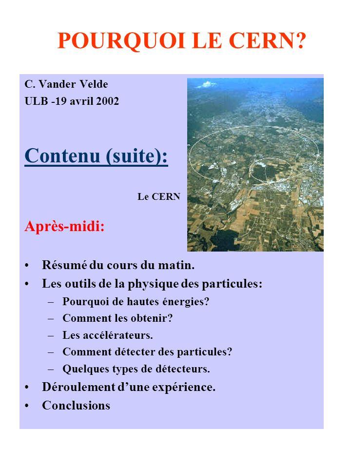 POURQUOI LE CERN. C.