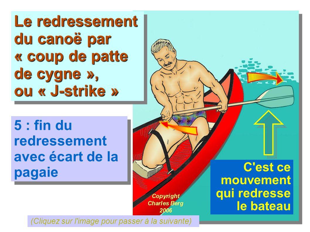 Le redressement du canoë par « coup de patte de cygne », ou « J-strike » Le redressement du canoë par « coup de patte de cygne », ou « J-strike » 5 :