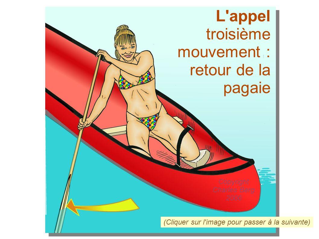 L'appel troisième mouvement : retour de la pagaie (Cliquer sur l'image pour passer à la suivante) Copyright Charles Berg 2006