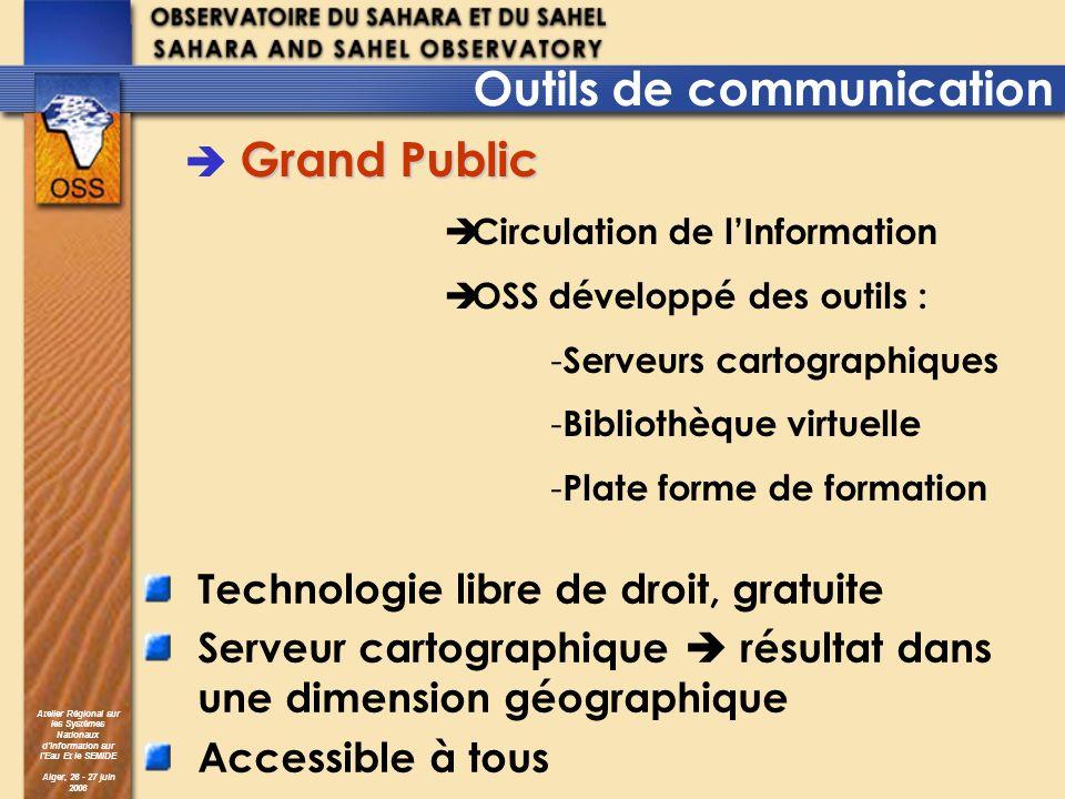 Atelier Régional sur les Systèmes Nationaux dInformation sur lEau Et le SEMIDE Alger, 26 - 27 juin 2006 Technologie libre de droit, gratuite Serveur c