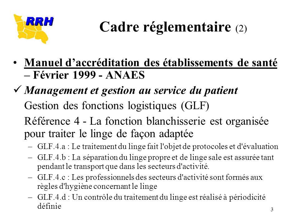 3 Manuel daccréditation des établissements de santé – Février 1999 - ANAES Management et gestion au service du patient Gestion des fonctions logistiqu