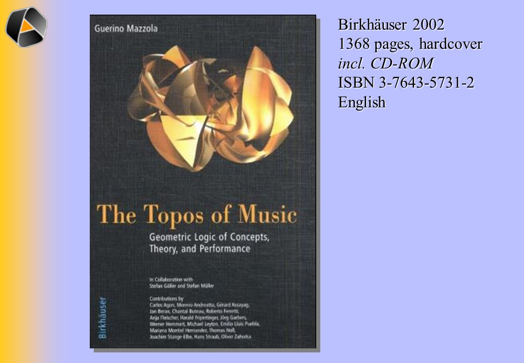 Birkhäuser 2002 1368 pages, hardcover incl. CD-ROM ISBN 3-7643-5731-2 English