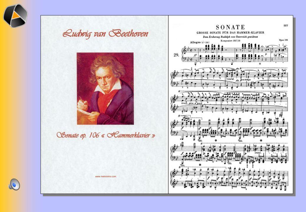 Schéma de la forme sonate pour le mouvement allegro dans op.106 de Ludwig van Beethoven !! !