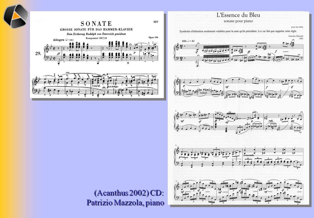(Acanthus 2002) CD: Patrizio Mazzola, piano
