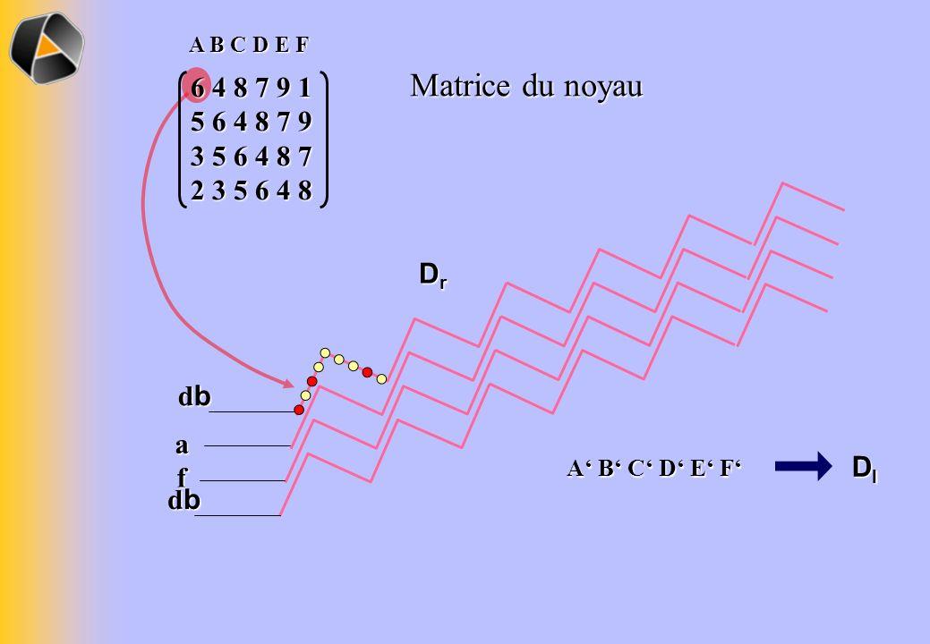 dbdbdbdb Matrice du noyau 6 4 8 7 9 1 5 6 4 8 7 9 3 5 6 4 8 7 2 3 5 6 4 8 A B C D E F dbdbdbdb f a DrDrDrDr DlDlDlDl