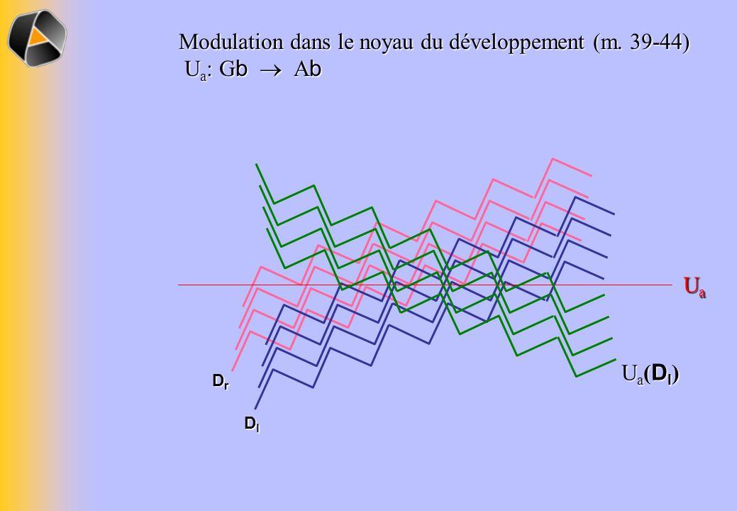 DrDrDrDr DlDlDlDl Modulation dans le noyau du développement (m.
