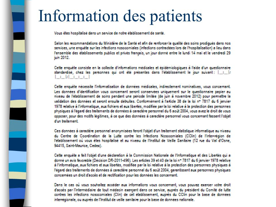 Information des patients