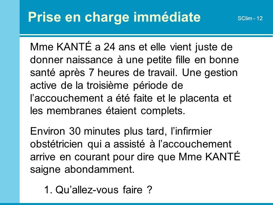 Mme KANTÉ a 24 ans et elle vient juste de donner naissance à une petite fille en bonne santé après 7 heures de travail. Une gestion active de la trois
