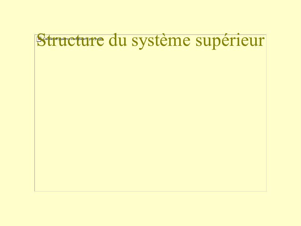 Structure du système supérieur