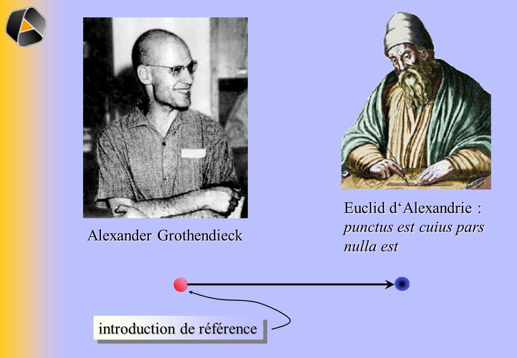 Euclid dAlexandrie : punctus est cuius pars nulla est Alexander Grothendieck introduction de référence