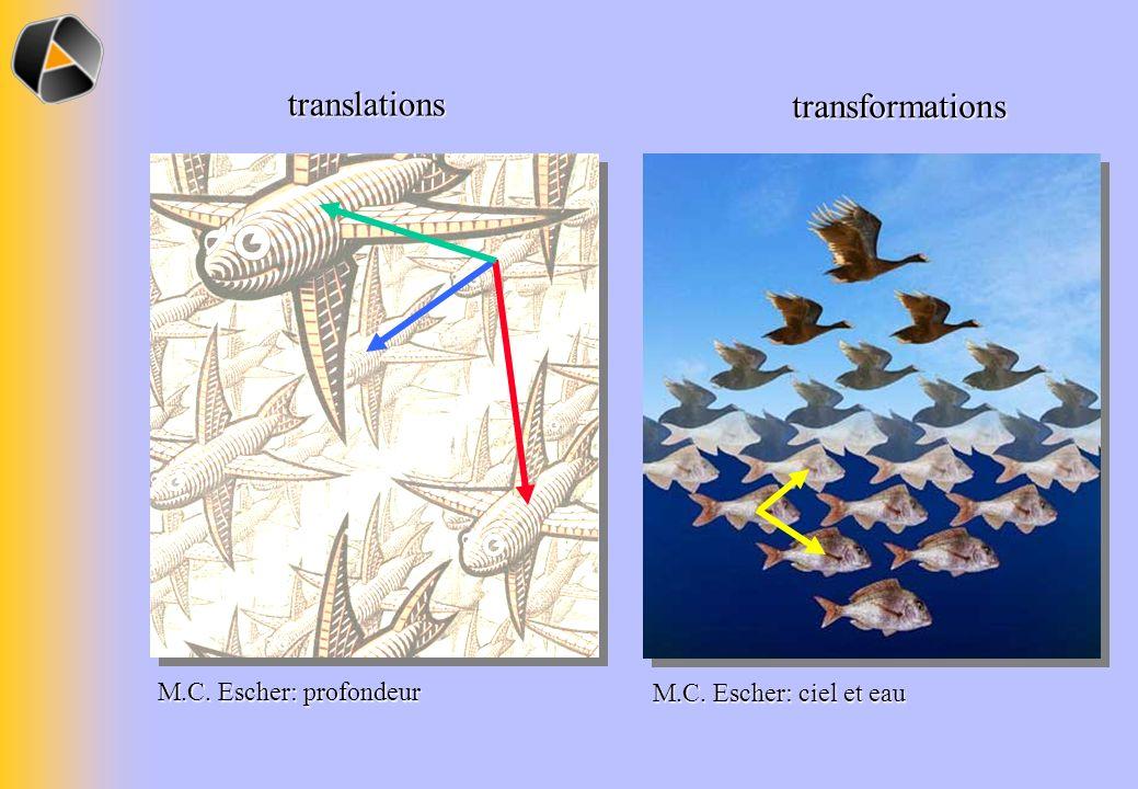 translations M.C. Escher: profondeur transformations M.C. Escher: ciel et eau