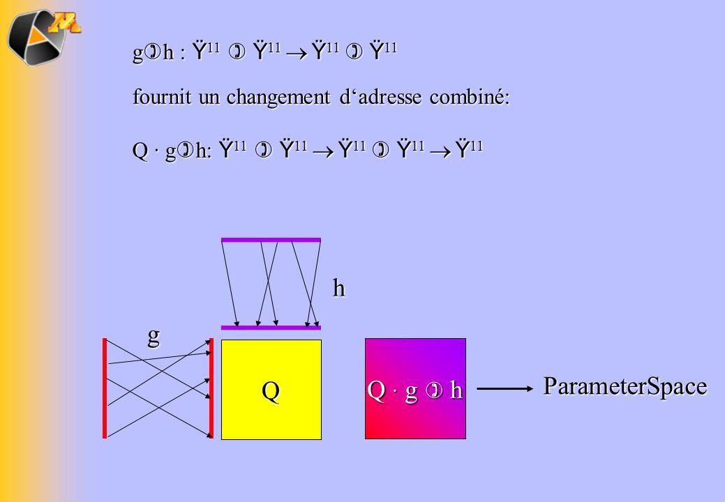 g h : Ÿ 11 Ÿ 11 Ÿ 11 Ÿ 11 fournit un changement dadresse combiné: Q · g h: Ÿ 11 Ÿ 11 Ÿ 11 Ÿ 11 Ÿ 11 Qg h Q · g h ParameterSpace