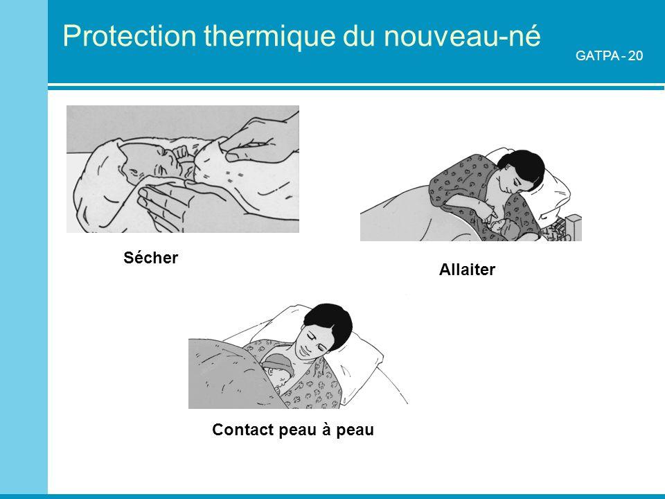 Protection thermique du nouveau-né Contact peau à peau Allaiter Sécher GATPA - 20