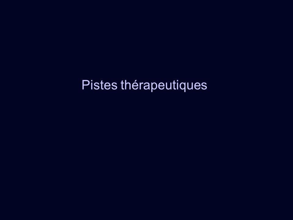 Pistes thérapeutiques
