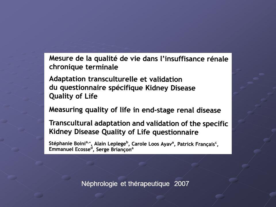 Néphrologie et thérapeutique 2007