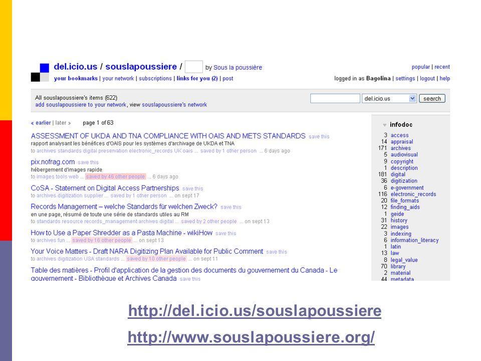 http://del.icio.us/souslapoussiere http://www.souslapoussiere.org/