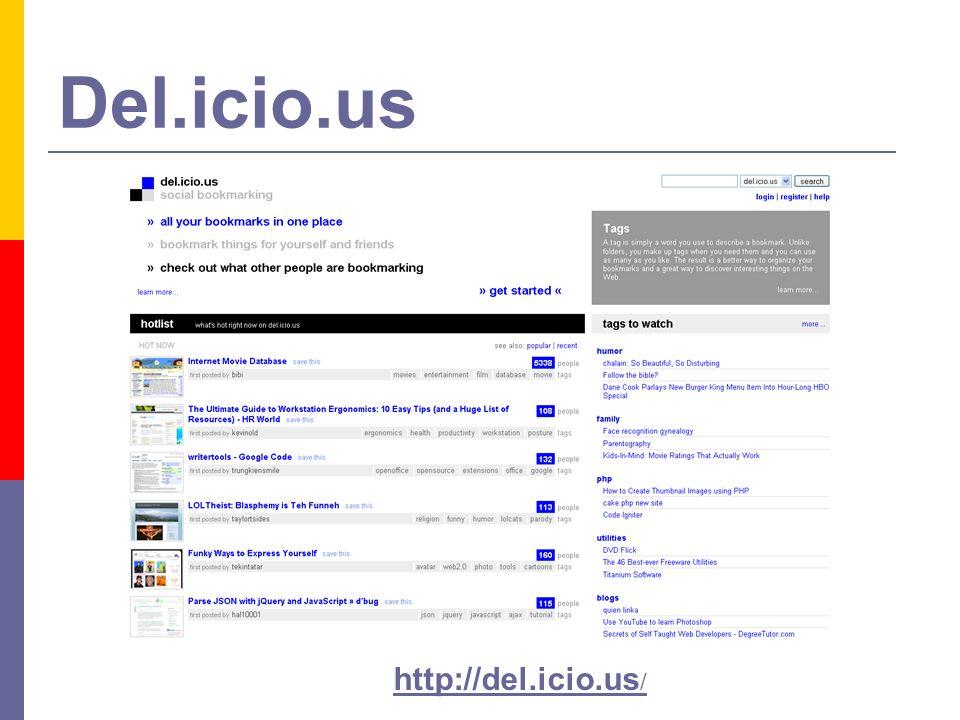 Del.icio.us http://del.icio.us /