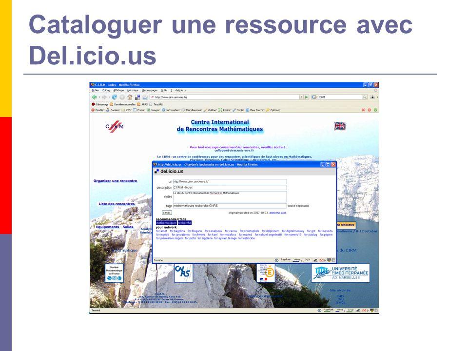 Cataloguer une ressource avec Del.icio.us