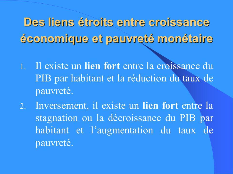 Eléments de base des politiques économiques pro-pauvres (1) I.
