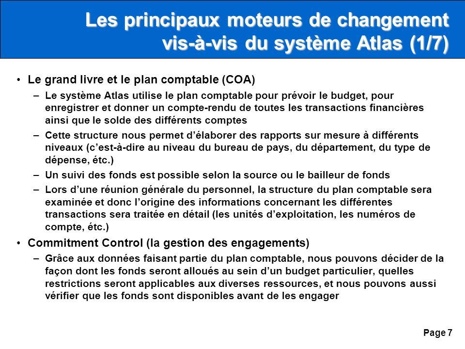 Page 6 Agenda Les objectifs de la mission Les principales modifications Les perspectives davenir