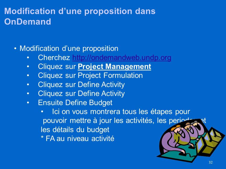 31 Nous devons modifier la proposition que nous avons copiée - elle nest pas conforme à notre projet proposé Maintenant que nous avons défini notre bu