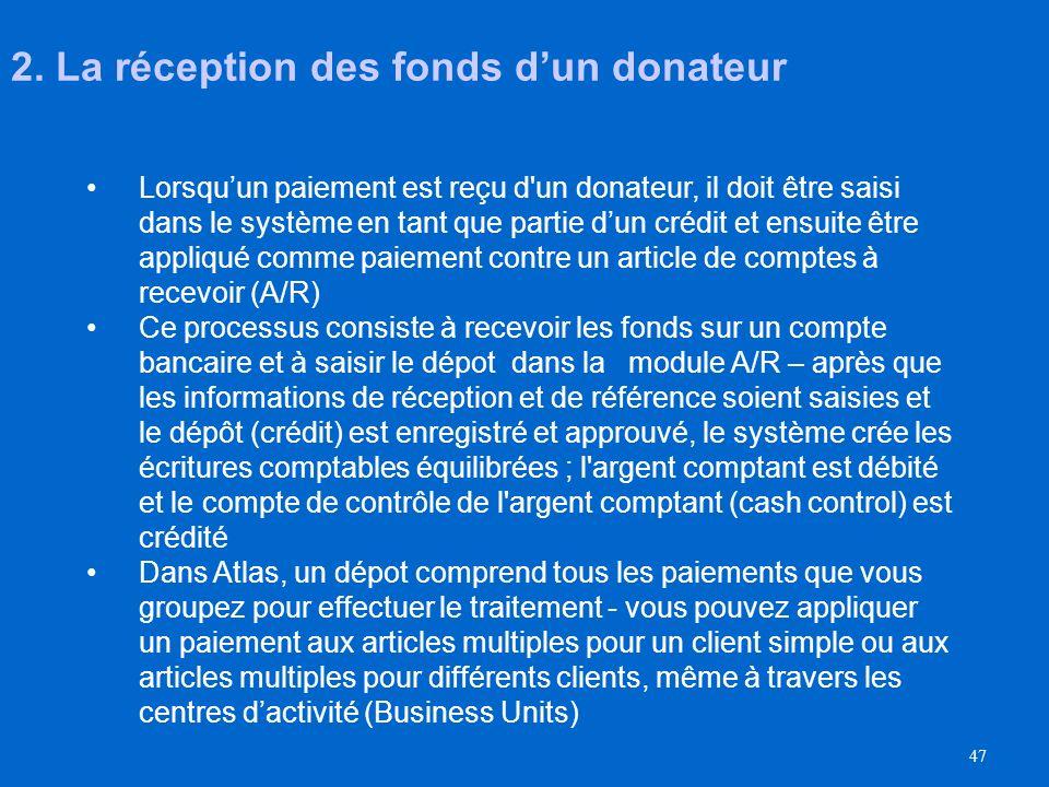 46 Trois étapes: 1. Échéancier de remboursement des contributions Saisie de léchéancier de remboursement des contributions dans OnDemand Cherchez http