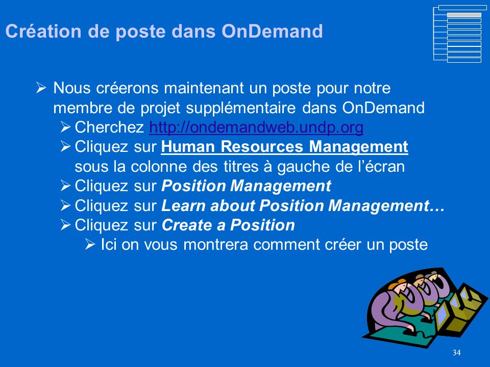 33 OnDemand comprend quatre étapes – voyons au cours de notre identification de ce quil faut pour créer un poste Voyez-le.