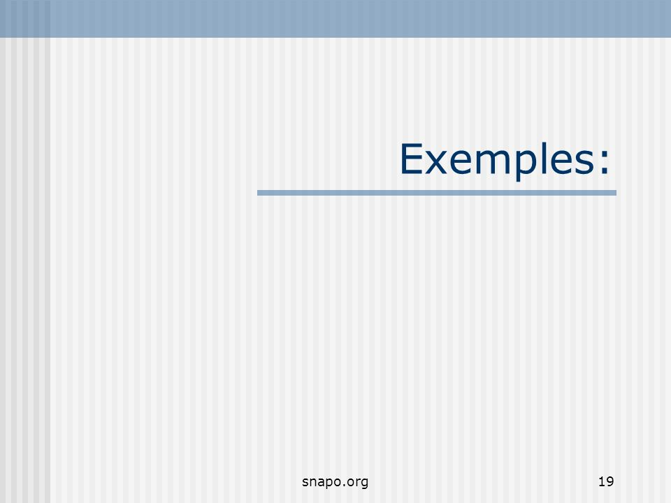snapo.org19 Exemples: