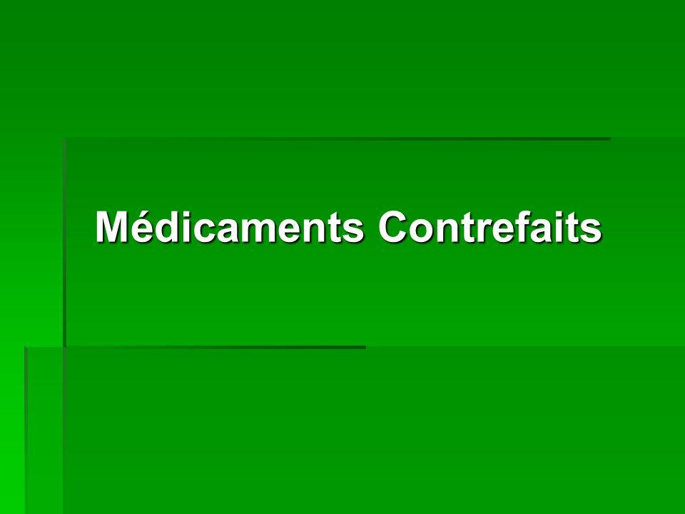 DEFINITION Les médicaments de qualité inférieure sont des produits dont la composition et les principes ne répondent pas aux normes scientifiques et qui sont par conséquent inefficaces et souvent dangereux pour le patient.