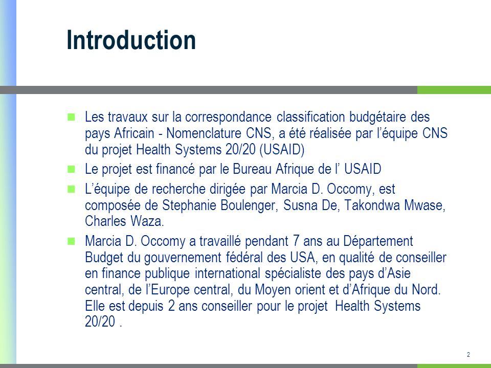 3 PLAN Généralités sur le processus délaboration des CNS; Quest ce que la correspondance Budget- CNS, et quand est ce quelle doit intervenir dans le processus délaboration des CNS.