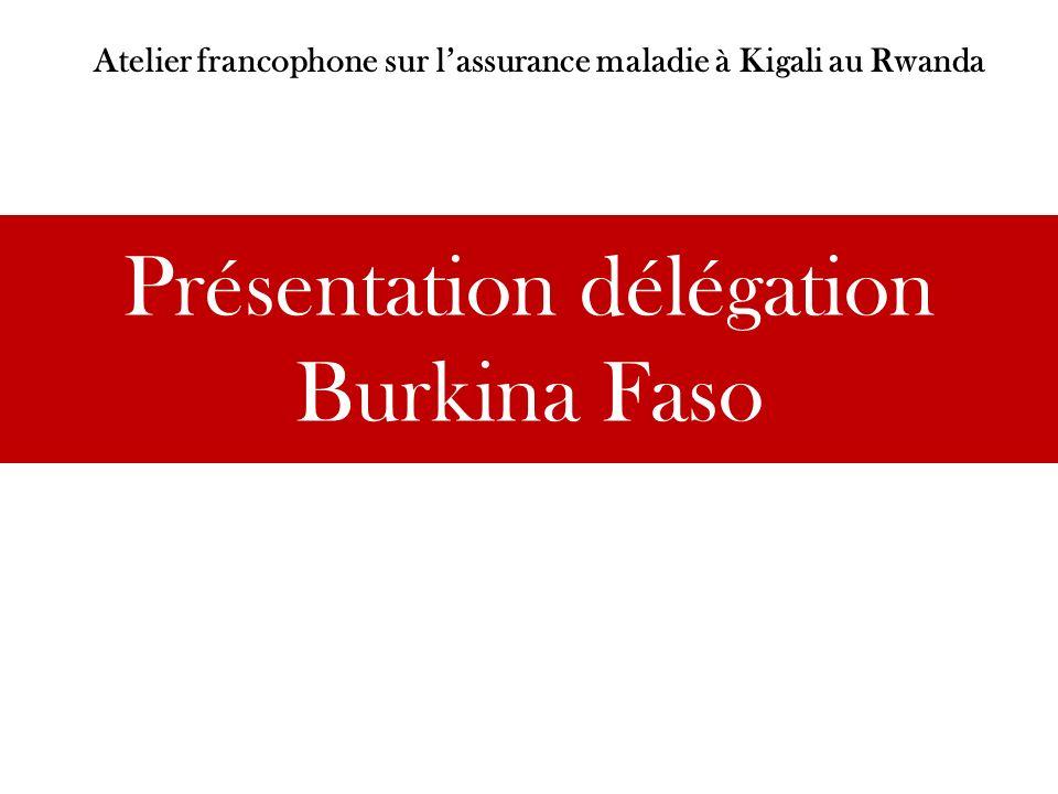 Présentation délégation Burkina Faso Atelier francophone sur lassurance maladie à Kigali au Rwanda