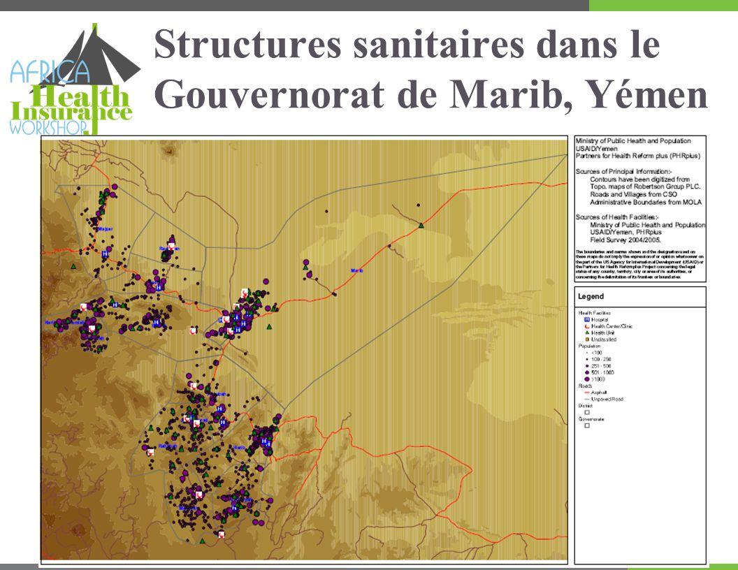 Structures sanitaires dans le Gouvernorat de Marib, Yémen