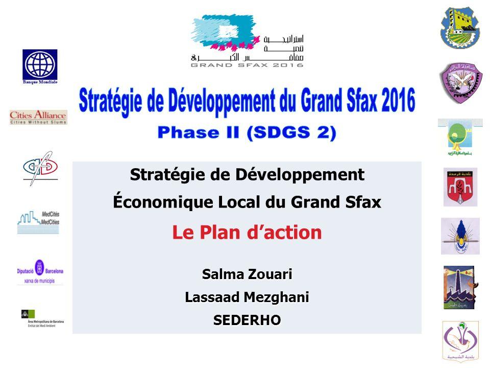 Stratégie de Développement Économique Local du Grand Sfax Le Plan daction Salma Zouari Lassaad Mezghani SEDERHO