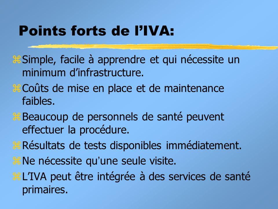 Points forts de lIVA: zSimple, facile à apprendre et qui nécessite un minimum dinfrastructure.