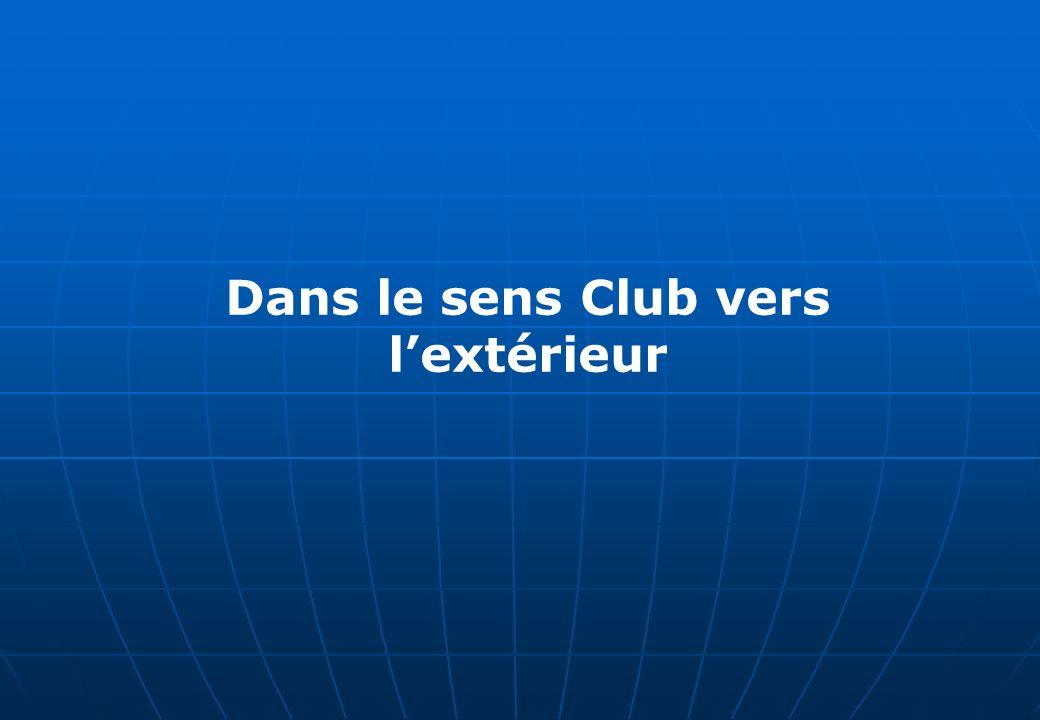 Dans le sens Club vers lextérieur