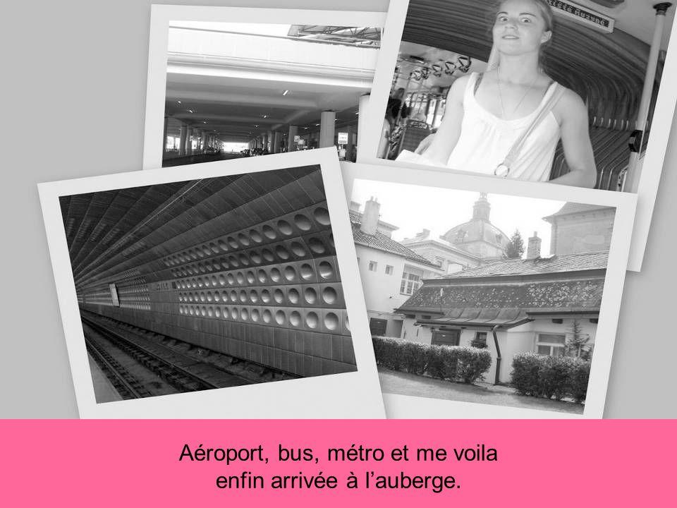 Aéroport, bus, métro et me voila enfin arrivée à lauberge.