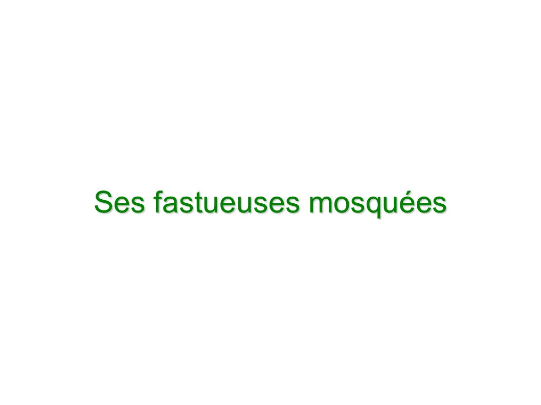 Ses fastueuses mosquées