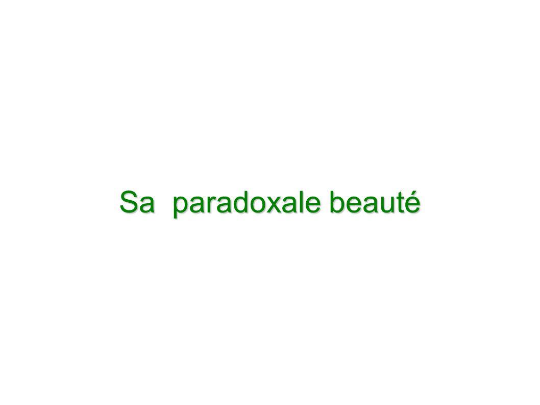 Sa paradoxale beauté