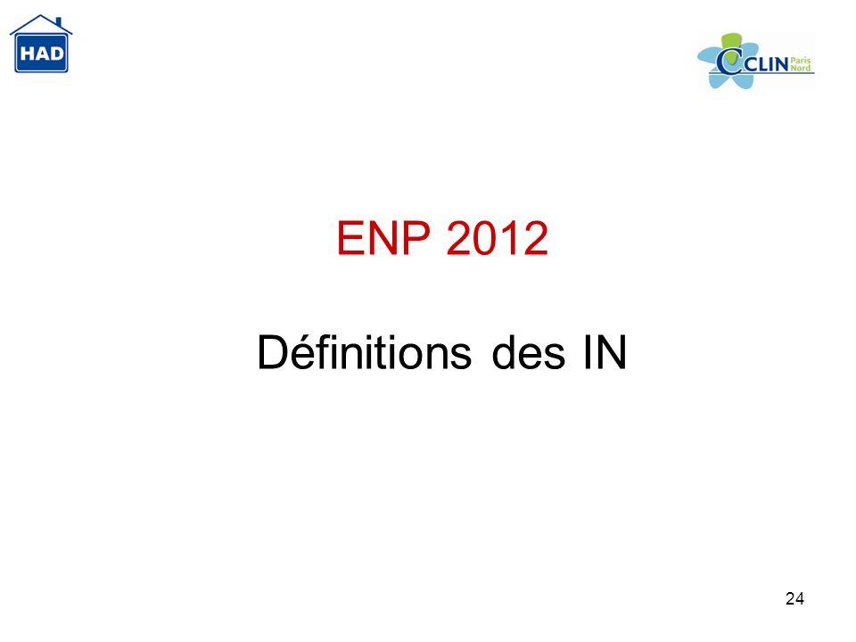 24 ENP 2012 Définitions des IN