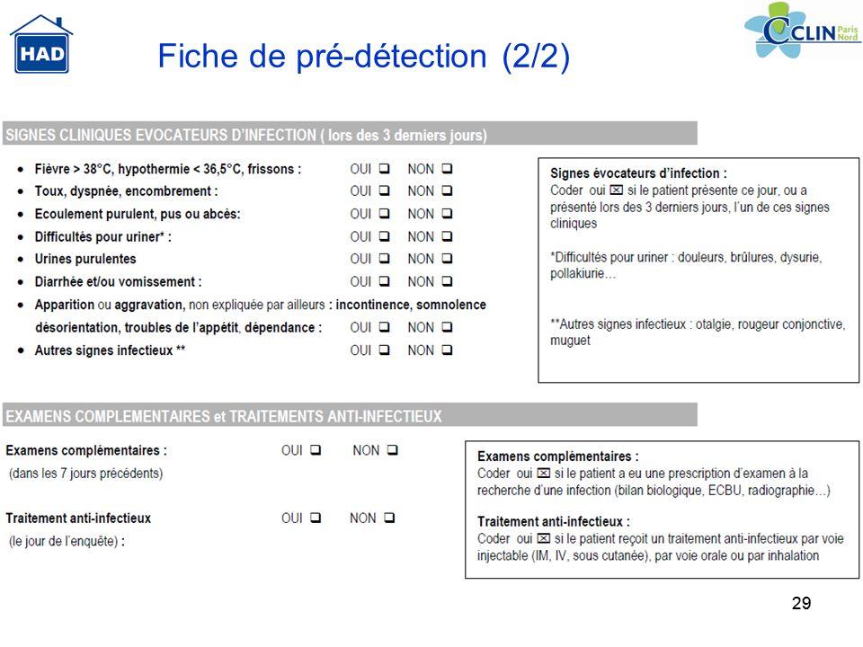 29 Fiche de pré-détection (2/2)