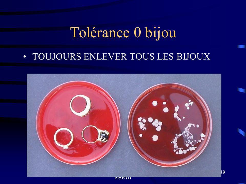 Formation en hygiène des mains EHPAD 19 Tolérance 0 bijou TOUJOURS ENLEVER TOUS LES BIJOUX