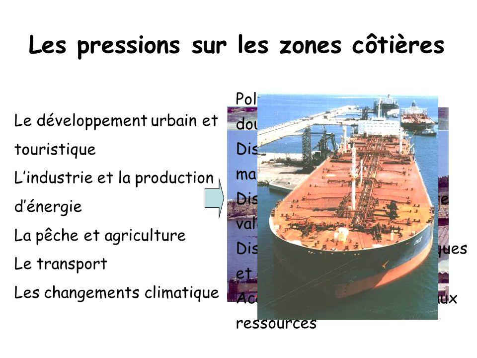 Les pressions sur les zones côtières (2) Plan Bleu (2002)