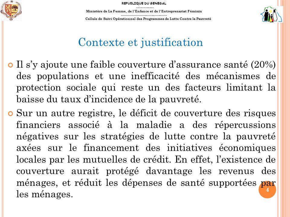 II- B RÈVE PRÉSENTATION DU PRP Le Programme dappui à la stratégie de Réduction de la Pauvreté (PRP) sinscrit dans le cadre de la Stratégie Nationale de Développement Economique et Social du Sénégal et des OMD.