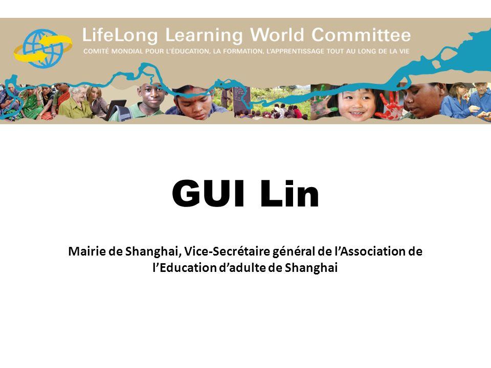 GUI Lin Mairie de Shanghai, Vice-Secrétaire général de lAssociation de lEducation dadulte de Shanghai