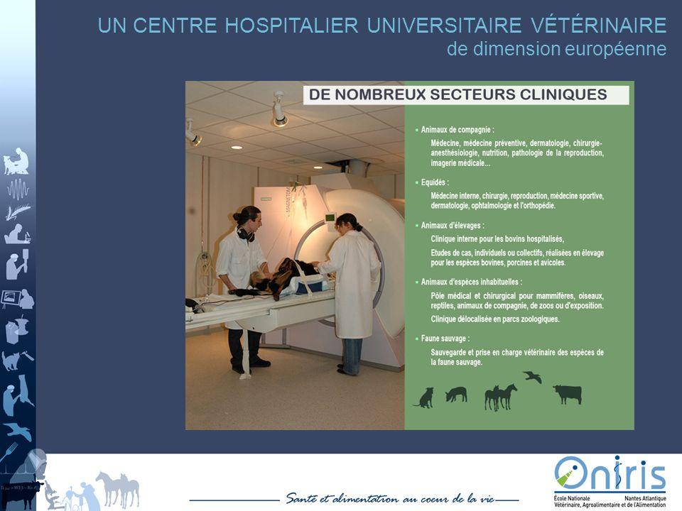 UN CENTRE HOSPITALIER UNIVERSITAIRE VÉTÉRINAIRE de dimension européenne