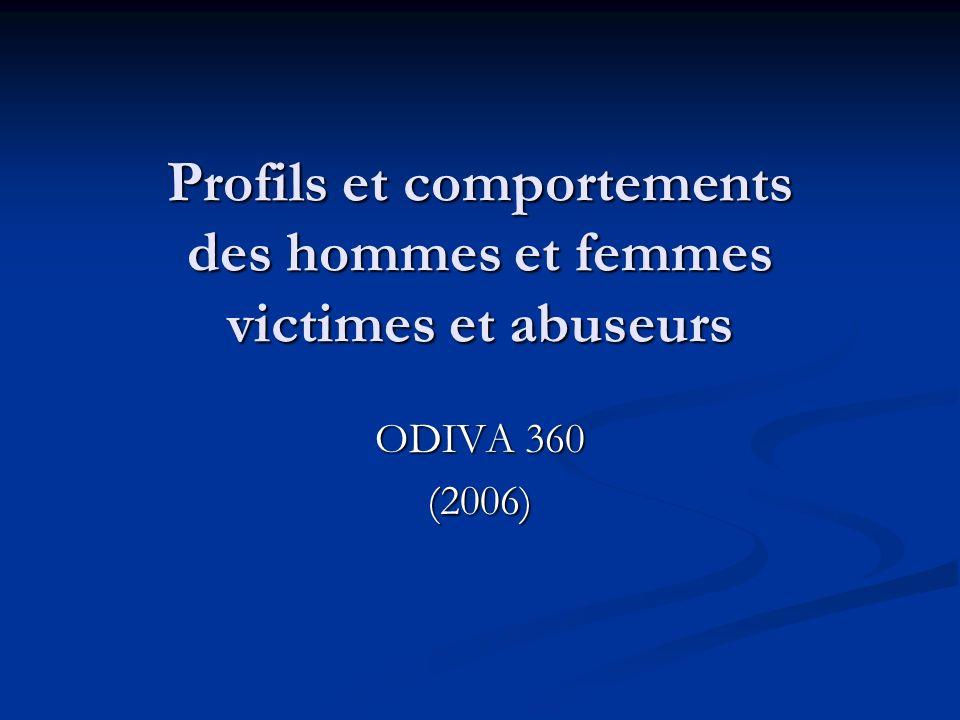 Profils et comportements des hommes et femmes victimes et abuseurs ODIVA 360 (2006)